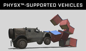 PhysX™-supported vehicles